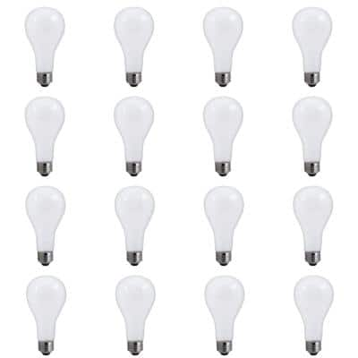 50/100/150-Watt A21 Frost Dimmable Light 3-Way Incandescent Light Bulb Warm White (12-Pack)