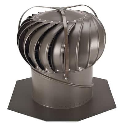 12 in. Weathered Bronze Aluminum Externally Braced Whirlybird Wind Turbine