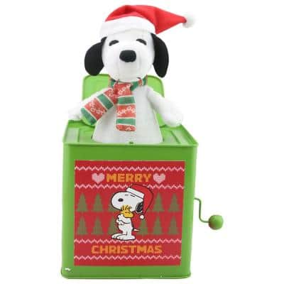 10.63 in. Jack in The Box-Snoopy with Scarf