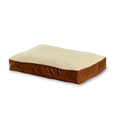 Buster Medium Latte Sherpa Dog Bed