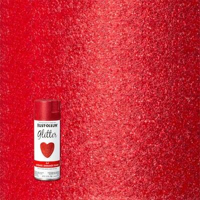 10.25 oz. Red Glitter Spray Paint (6-Pack)