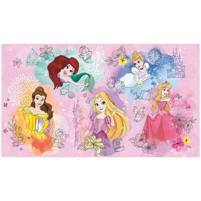 63 sq.ft. Disney Princess Peel and Stick Mural
