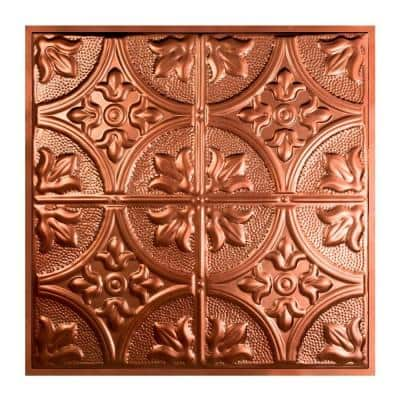 Jamestown 2 ft. x 2 ft. Lay-in Tin Ceiling Tile in Vintage Bronze (20 sq. ft. / case of 5)