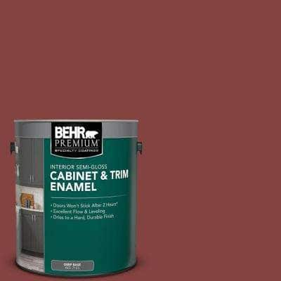 1 gal. #S130-7 Cherry Cola Semi-Gloss Enamel Interior Cabinet and Trim Paint