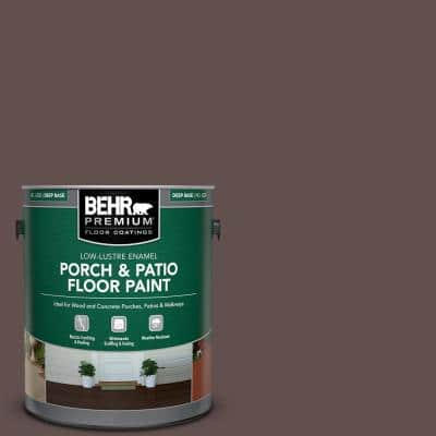 Behr Premium 1 Gal Pmd 108 Double Chocolate Low Lustre Enamel Interior Exterior Porch And Patio Floor Paint 630001 The Home Depot