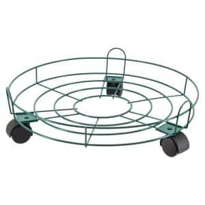 16 in. Green Metal Basic Plant Caddy