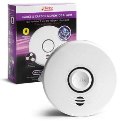 10 Year Worry-Free Hardwired Combination Smoke and Carbon Monoxide Detector with Wire-Free Voice Interconnect