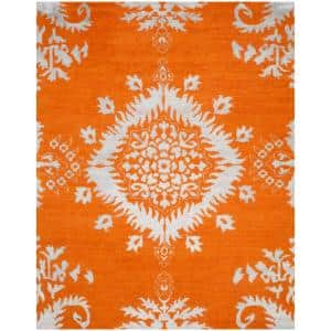 Stone Wash Gold 9 ft. x 12 ft. Floral Area Rug