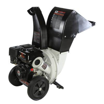 2.25 in. 6.5 HP 212cc Gas Powered, Unique Innovation 3-in-1 Discharge Chute Chipper Shredder with Safety Goggles