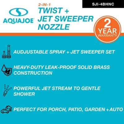 3.8 in. Solid Brass Heavy Duty Twist Hose Nozzle