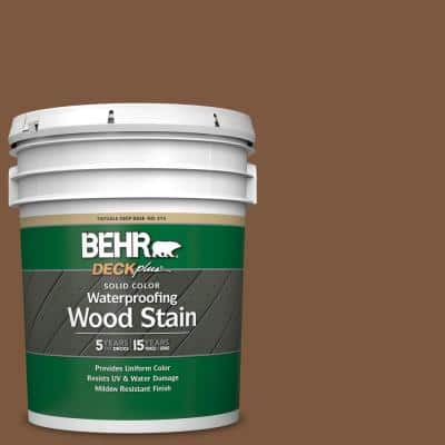 5 gal. #SC-110 Chestnut Solid Color Waterproofing Exterior Wood Stain