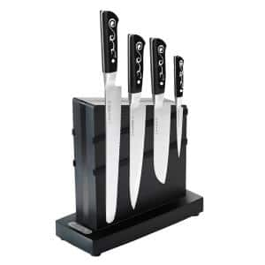 I.O. Shen 4-Piece Stainless Steel Knives Set with Magnet Knife Block