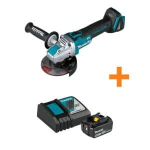 18-Volt LXT Brushless Cordless 4-1/2 in. / 5 in. X-LOCK Angle Grinder Tool Only w/Bonus 18-Volt 4.0Ah LXT Starter Pack