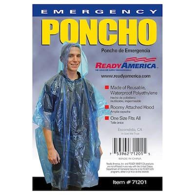 Emergency Poncho (50-Pack)