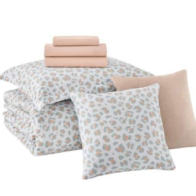 Millar Leopard Bed in a Bag Comforter Set with Sheets and Decorative Pillows