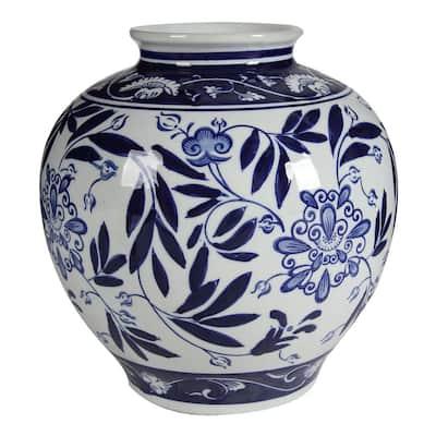 Aline Gloss Blue and White Vase