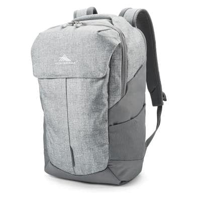 Access Pro Silver Heather Backpack with 17 in. Padded Laptop Sleeve