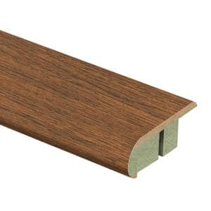 Homestead Oak 3/4 in. Thick x 2-1/8 in. Wide x 94 in. Length Laminate Stair Nose Molding