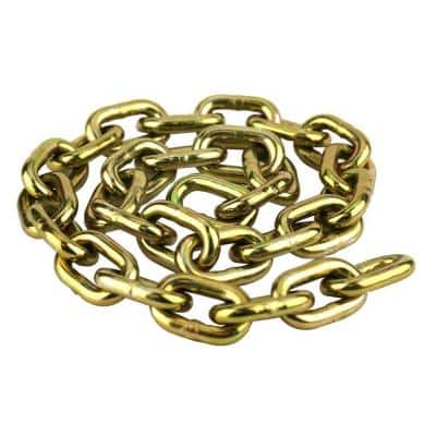 3/8 in. x 3 ft. Case Hardened Yellow Zinc Plated Anti-Theft Security Chain