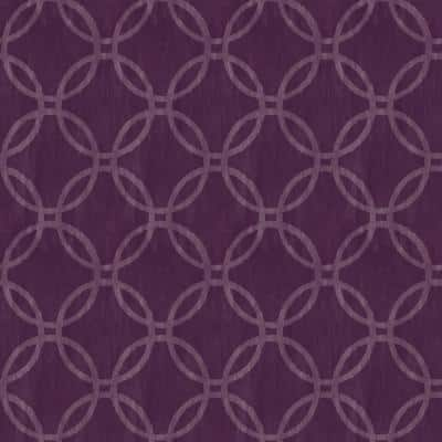 Curtis, Eaton Purple Geometric Paper Strippable Wallpaper Roll (Covers 56.4 sq. ft.)