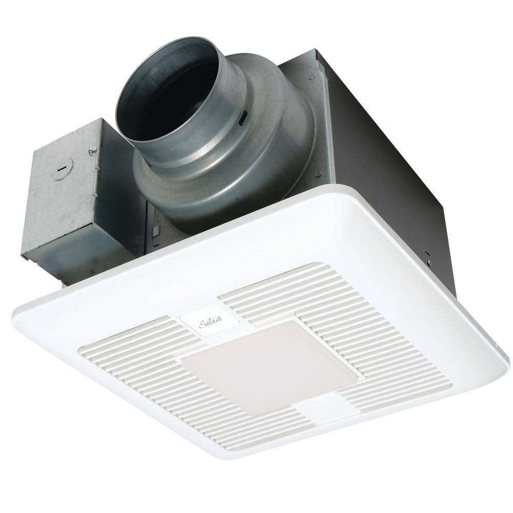 Panasonic Whispergreen Select Pick A Flow 50 80 Or 110 Cfm Exhaust Fan Led Light Flex Z Fast Bracket 4 Or 6 In Duct Adapter Fv 0511vkl2 The Home Depot