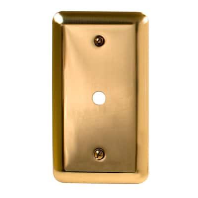 Brass 1-Gang Phone Jack Wall Plate (1-Pack)