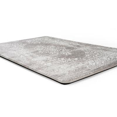 Gray Distressed Traditional Vintage Design 18 in. x 30 in. Anti Fatigue Standing Mat
