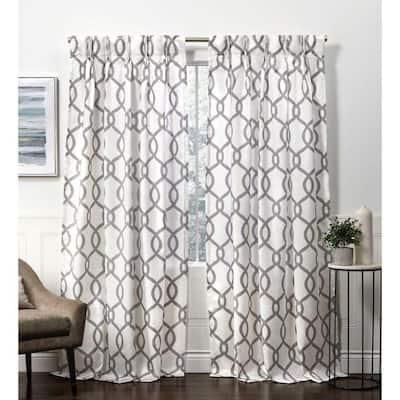 Kochi Black Pearl Room Darkening Triple Pinch Pleat Top Curtain Panel - 27 in. W x 96 in. L (2-Panel)