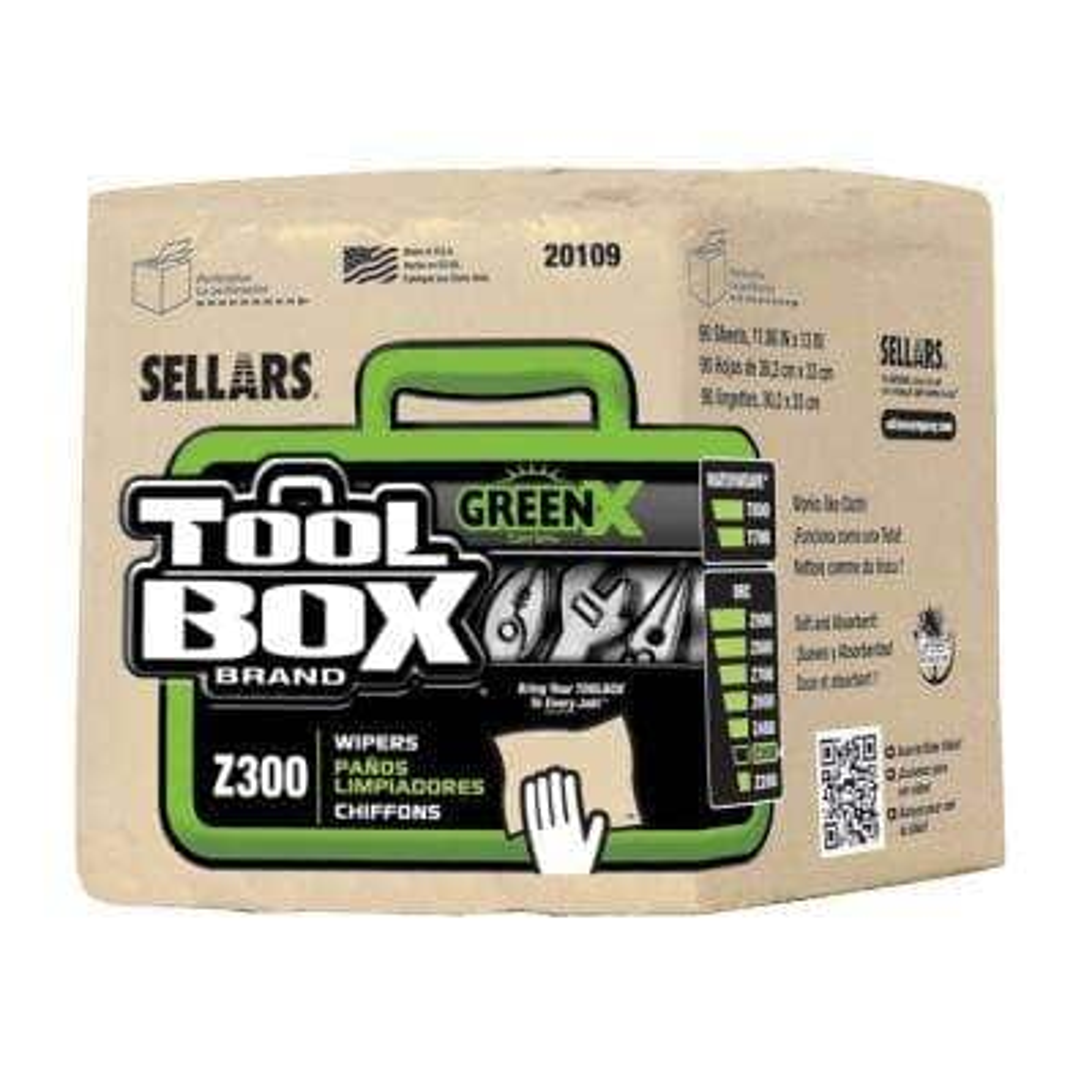 Z300 GreenX Quarterfold Wipers (90-Count; 12 Bundles Per Case; 1,080 Sheets Per Case)