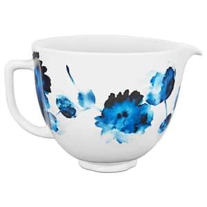 5 Qt. Ink Watercolor Patterned Ceramic Bowl