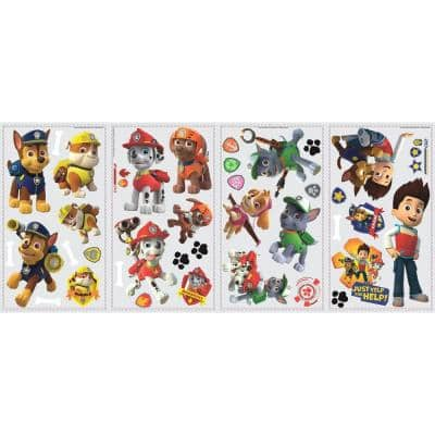 5 in. x 11.5 in. Paw Patrol Peel and Stick Wall Decal
