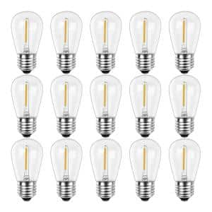 11-Watt Equivalent S14 Shatter-Resistant String Light Edison LED Bulbs Warm White 2700K (15-Pack)