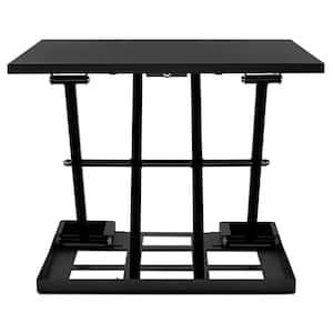 31.9 in. W Black Height Adjustable Standing Desk Converter Adjust Sit to Stand
