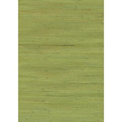Jirou Green Grasscloth Green Wallpaper Sample