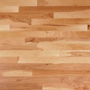 Hickory Natural 3/8 in. T x 6-1/4 in. W x Varying Length Engineered Click Hardwood Flooring (32.2 sq. ft./case)
