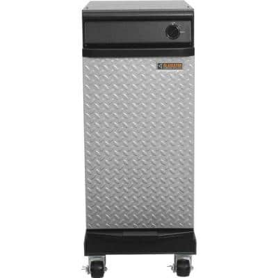 15 in. Freestanding Trash Compactor in Hammered Granite