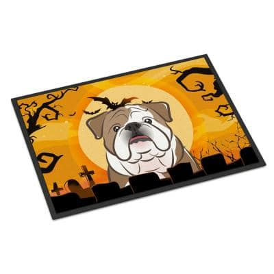 18 in. x 27 in. Indoor/Outdoor Halloween English Bulldog Door Mat