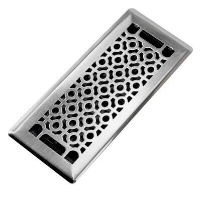 Cosmo 4 in. x 10 in. Steel Beveled Edge Floor Register