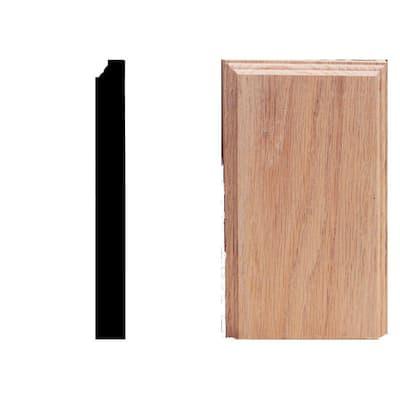 1-1/8 in. x 4-1/2 in. x 8 in. Oak Plinth Moulding