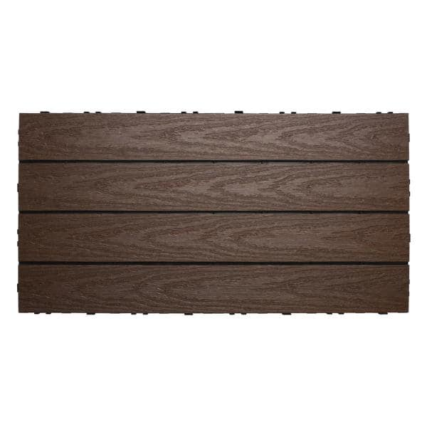 NewTechWood UltraShield Naturale 1 ft. x 2 ft. Quick Deck Outdoor Composite Deck Tile in Spanish Walnut (20 sq. ft. Per Box)   The Home Depot
