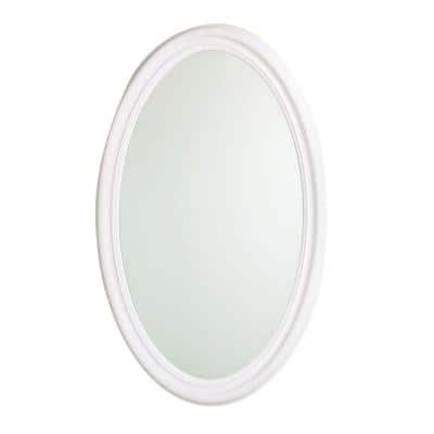 Evolution 20 in. x 30 in. Mirrored Recessed or Surface Mount Medicine Cabinet in White