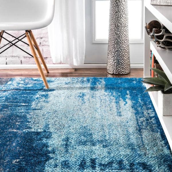 Nuloom Alayna Abstract Blue 7 Ft X 9 Ft Area Rug Rzbd51a 6709 The Home Depot
