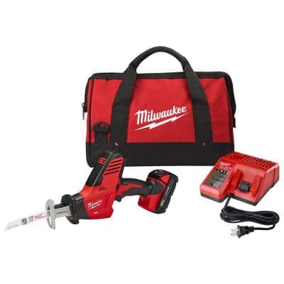 M18 18-Volt Lithium-Ion Cordless Hackzall Reciprocating Saw Kit with (1) 1.5Ah Battery, Charger and Tool Bag