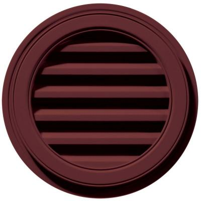 18 in. x 18 in. Round Red Plastic Weather Resistant Gable Louver Vent