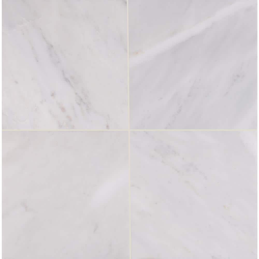 Msi Greecian White 12 In X 12 In Honed Marble Floor And Wall Tile 5 Sq Ft Case Taracar1212h The Home Depot
