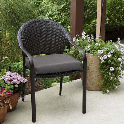 18 x 18 Sunbrella Cast Slate Outdoor Chair Cushion (2-Pack)