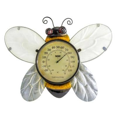 Bee Analog Outdoor Wall Thermometer