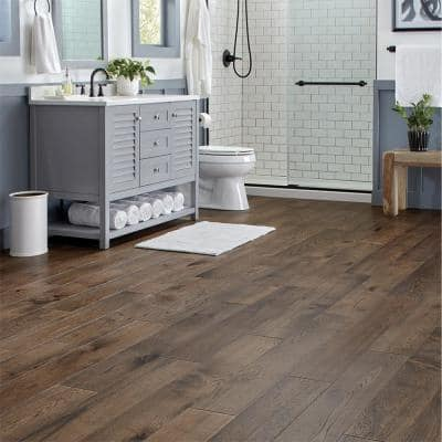 Timber Wolf Hickory 6.5 in. W x Varying Length Engineered Click Waterproof Hardwood Flooring (21.80 sq.ft./case)