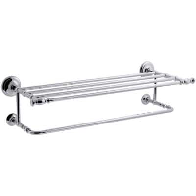 Artifacts Hotelier Towel Rack in Polished Chrome