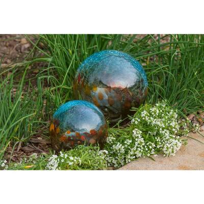 7 in. Art Glass Solar Gazing Ball, Serendra